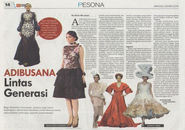 Media Indonesia : ADIBUSANA Lintas Generas